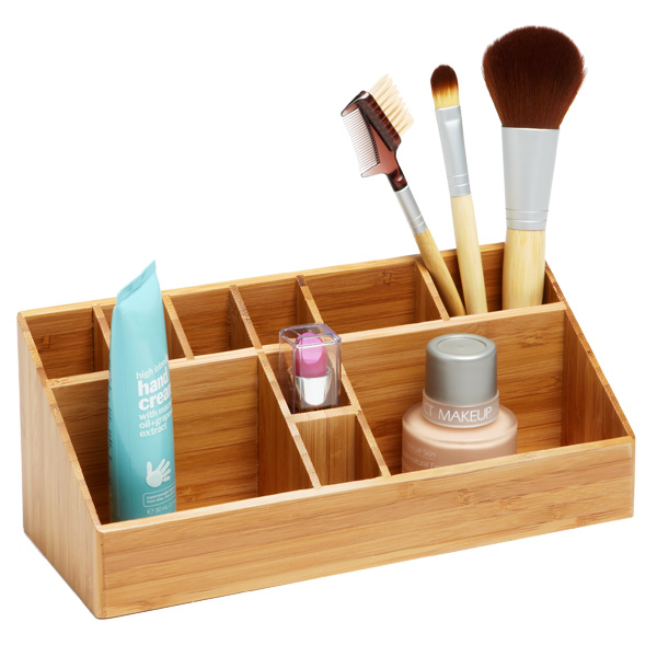 Bathroom Organiser bamboo makeup organizer | the container store