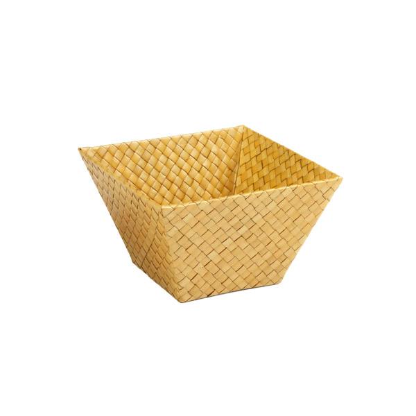 Small Square Pandan Basket Acorn