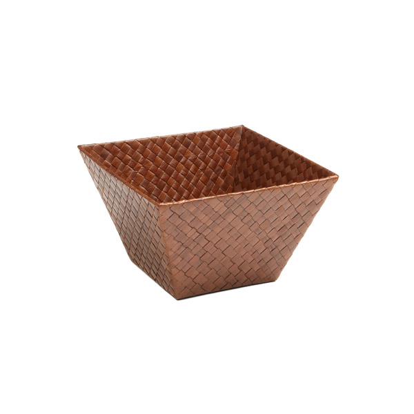 Small Square Pandan Basket Sienna