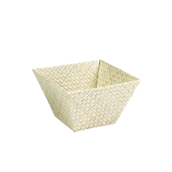 Small Square Pandan Basket Natural