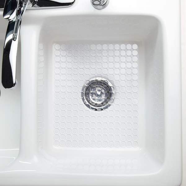iDesign Clear Circo Sink Mat