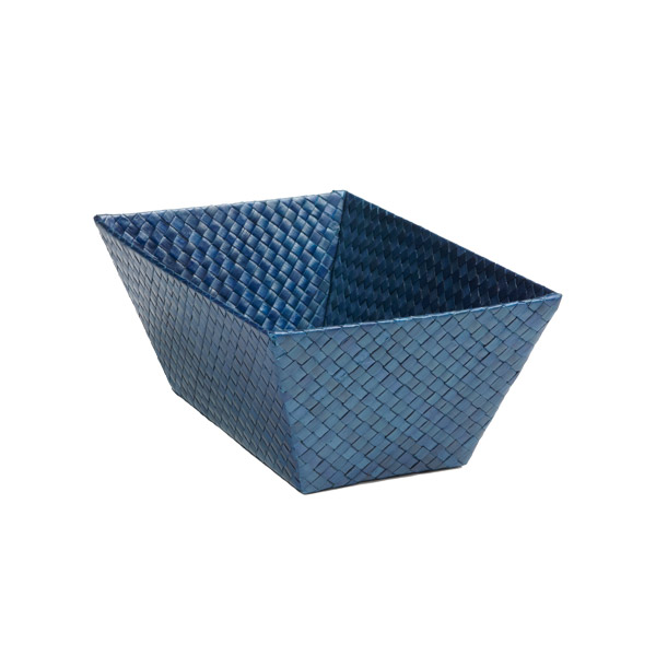 Small Rectangular Pandan Basket Indigo