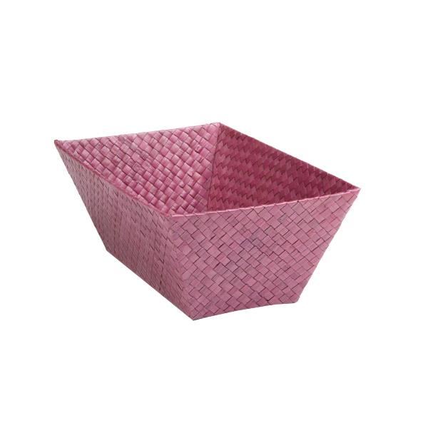 Small Rectangular Pandan Basket Purple
