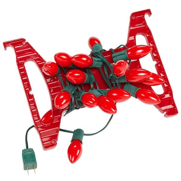 Holiday Light Cord Wrap Red