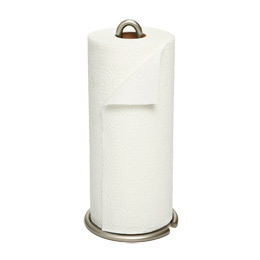 nickel euro paper towel holder the container store. Black Bedroom Furniture Sets. Home Design Ideas