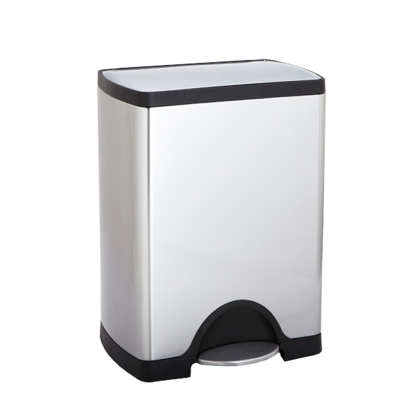 simplehuman stainless steel 8 gal rectangular step trash can the container store. Black Bedroom Furniture Sets. Home Design Ideas