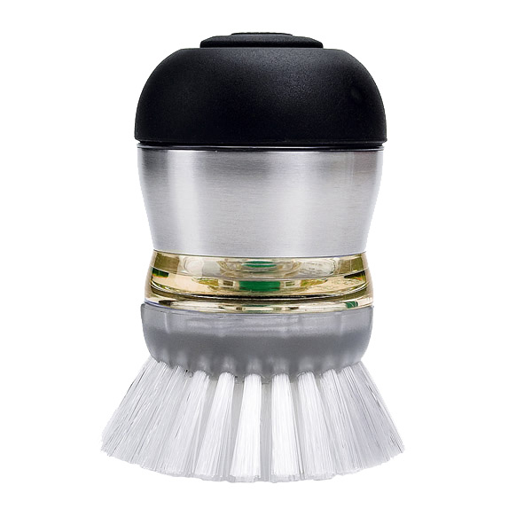 OXO Stainless Steel Soap Dispensing Palm Brush