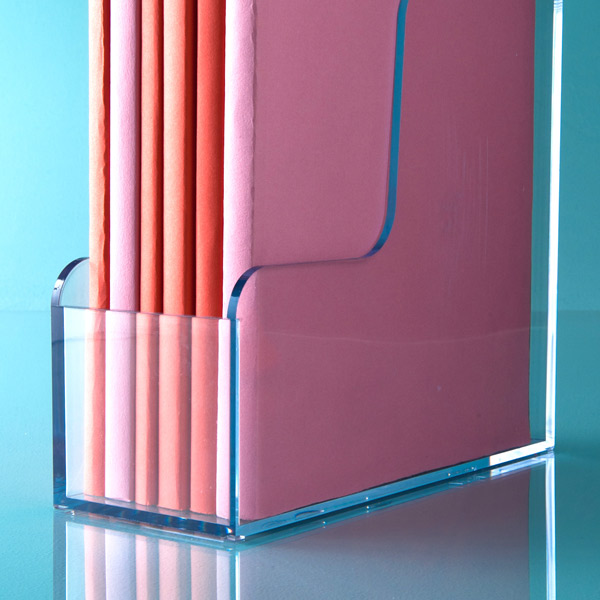 Clear Magazine Holder The Container Store