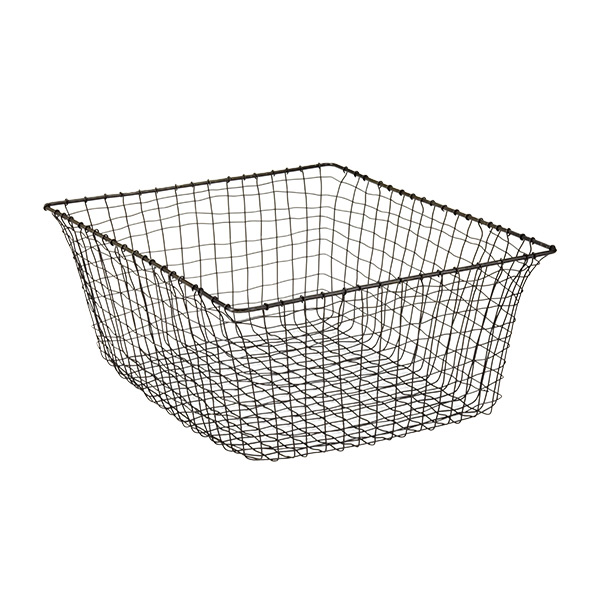 Large Marche Basket Rustic Steel