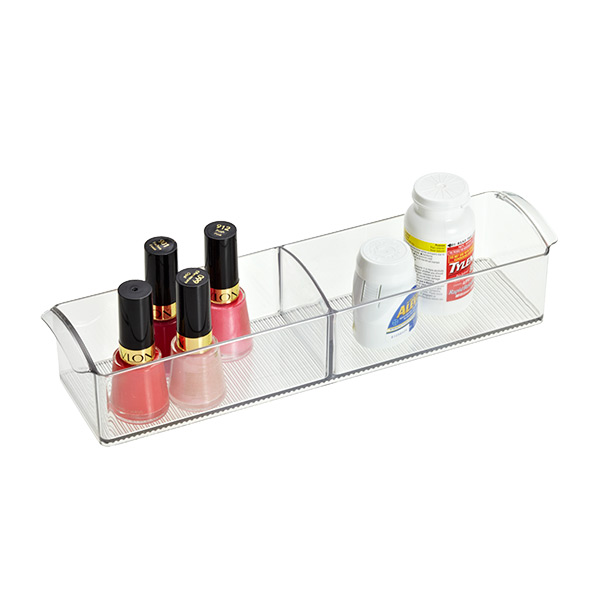 Linus Handled Cabinet Organizer Clear