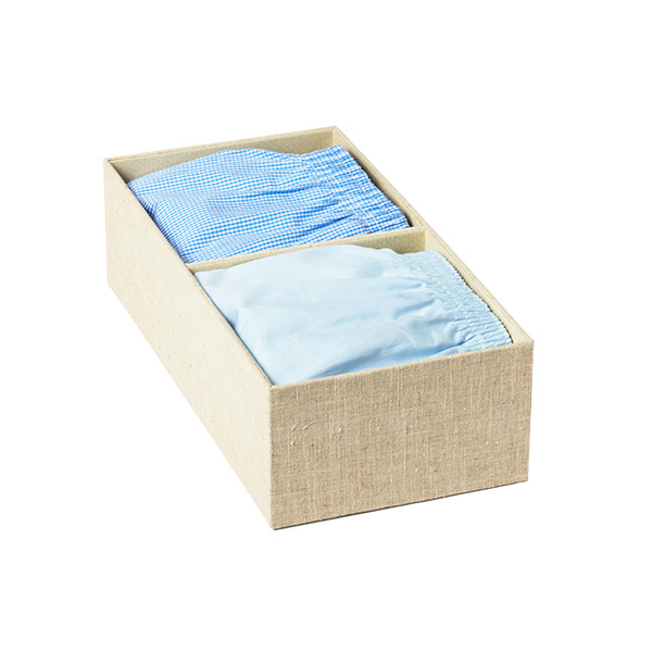 Cambridge 2-Section Drawer Organizer Linen