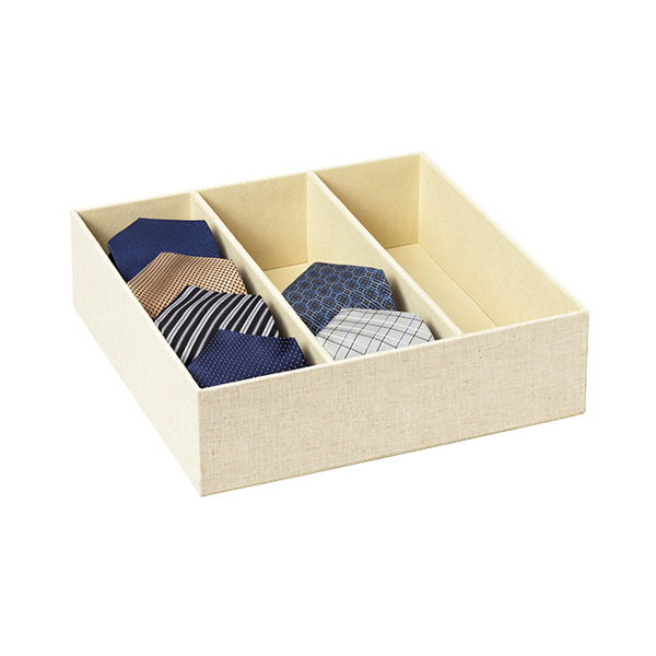 Cambridge 3-Section Drawer Organizer Linen