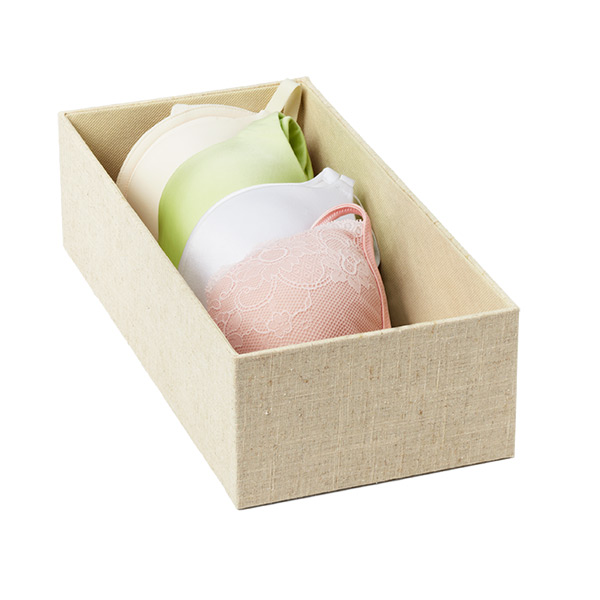 Cambridge Narrow Open Drawer Organizer Linen