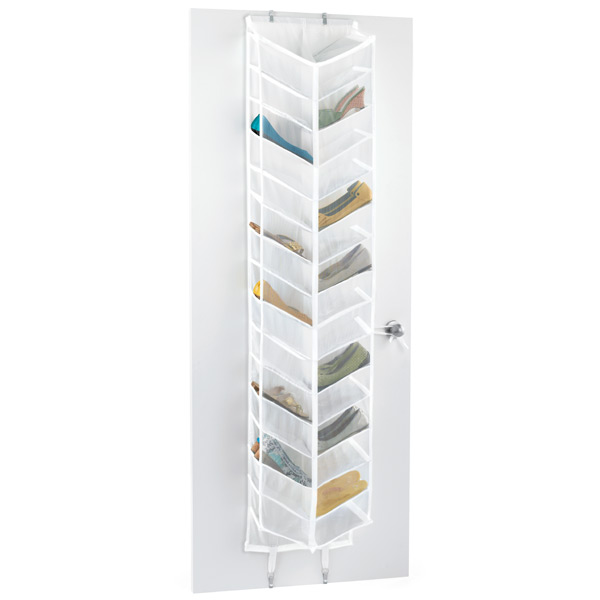 over door shoe organizer 30 pair over the door shoe organizer the container store. Black Bedroom Furniture Sets. Home Design Ideas