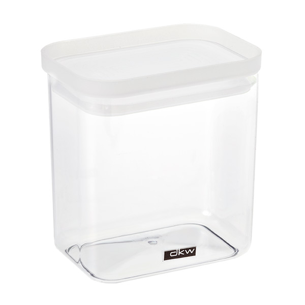 38 oz. Rectangular Canister Translucent Lid