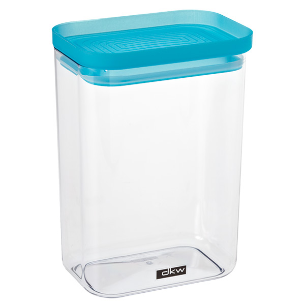 52 oz. Rectangle Canister Turquoise Lid