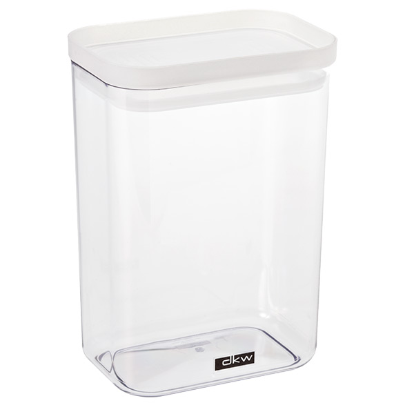 52 oz. Rectangular Canister Translucent  Lid