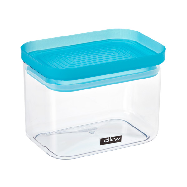 24 oz. Rectangular Canister Turquoise Lid