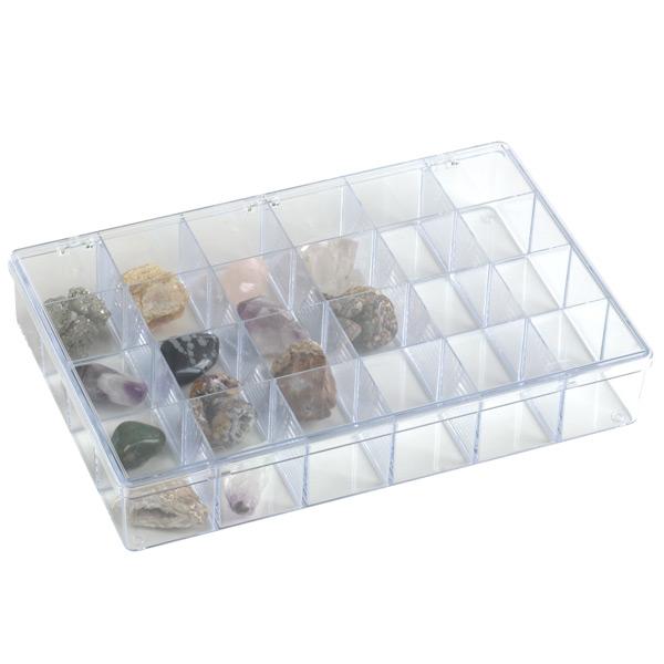 "13-1/8"" x 9"" Clear 24-Compartment Box"