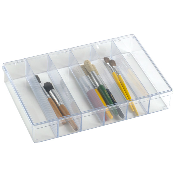 6-Compartment Clear Box