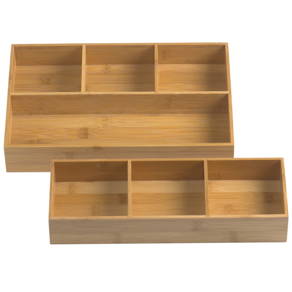Wood drawer organizer bamboo drawer organizer trays for Bathroom organizers