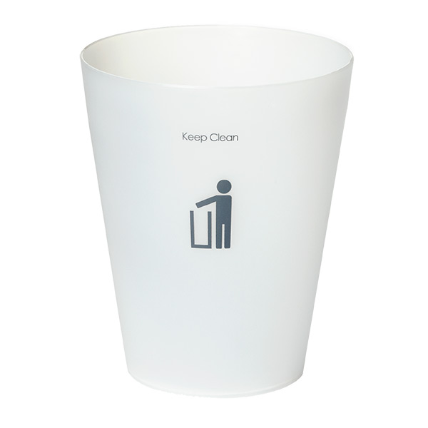 Round Keep Clean Wastebasket Translucent