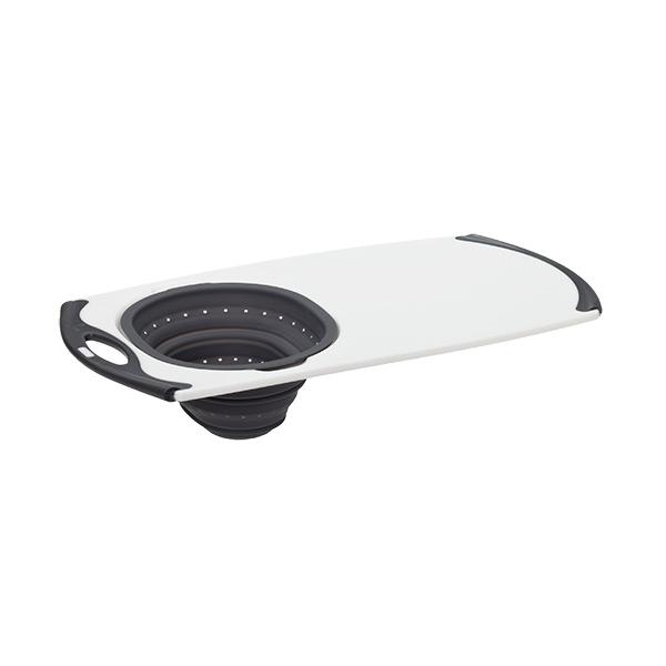 Oversink Strainer Board Grey Silicone