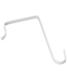 Commercial Overdoor Hooks White Pkg/4