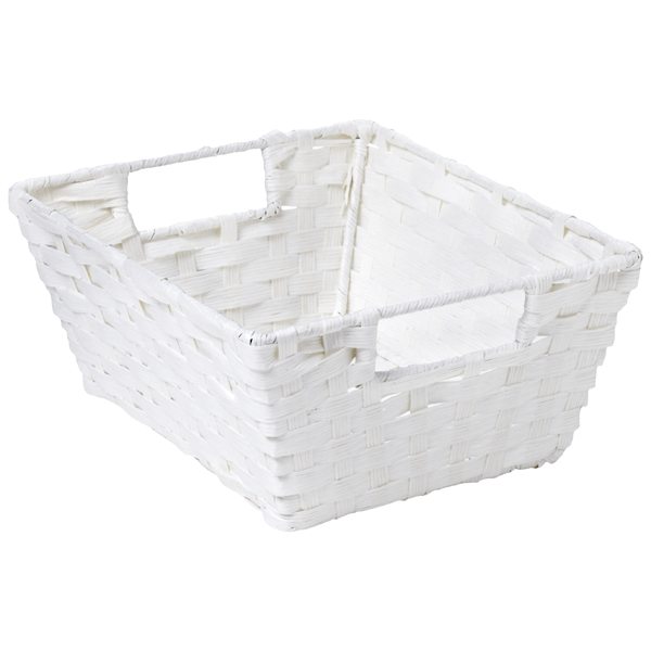 Paper Rope Bin with Handles White
