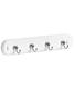 4-Hook Key Rack Chrome/White