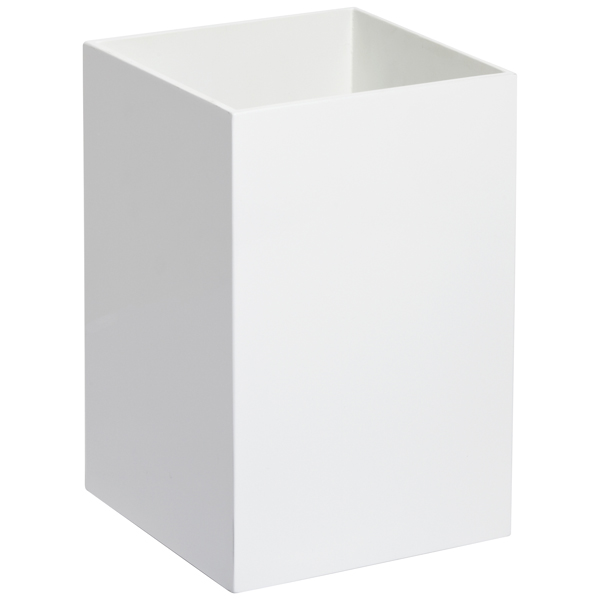 White Lacquered Gloss Wastebasket
