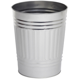 Oscar Tin Trash Can | The Container Store