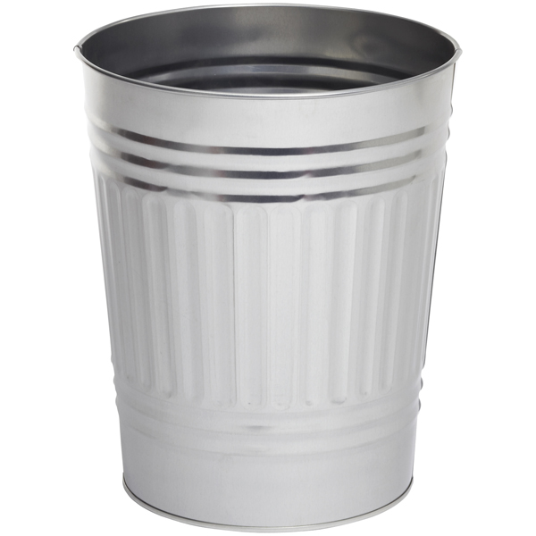 Oscar Tin Trash Can