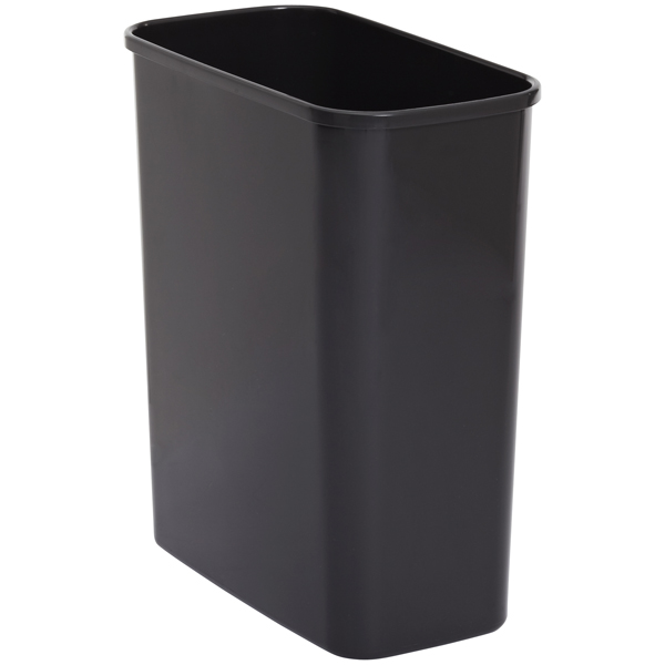 Black eco 4 gal rectangular trash can the container store - Rectangular garbage cans ...