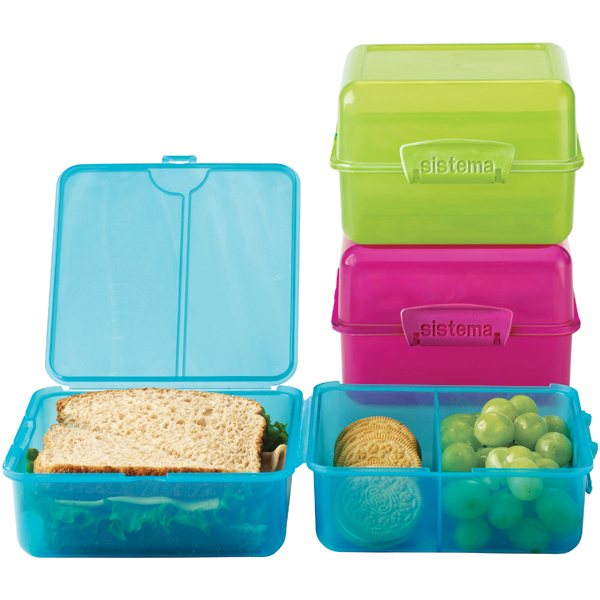 Colorful Klip-It Lunch Cube-to-Go