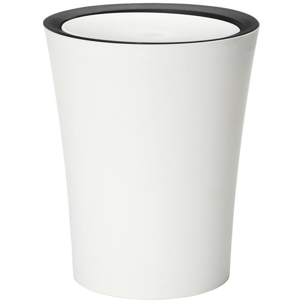 Round Mini Flip Bin White