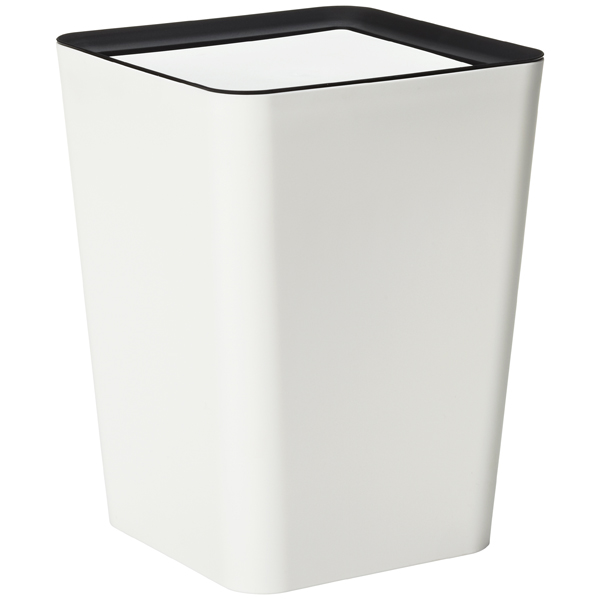 Square Mini Flip Bin White