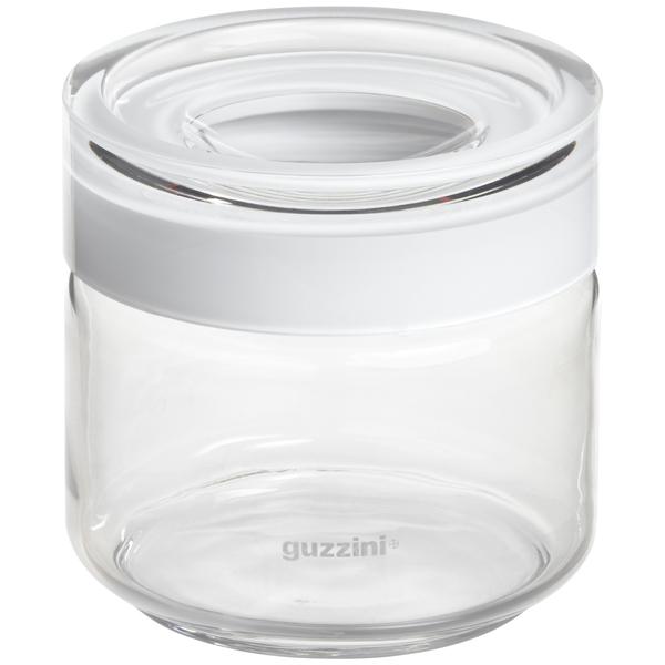 Guzzini 17 oz. Blanca Glass Canister White Acrylic Lid