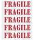 Fragile Labels Red Pkg/25