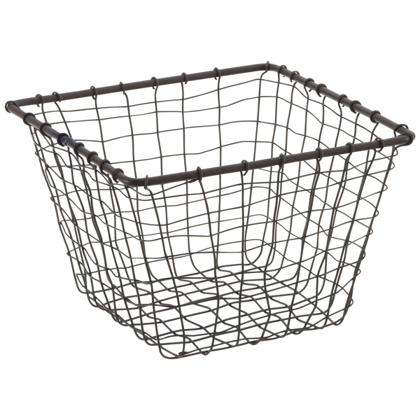 Wire Baskets - Rustic Marché Steel Wire Storage Baskets | The ...