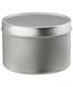16 oz. Seamless Tin Silver