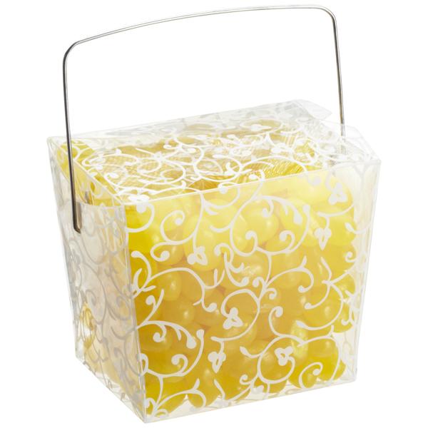 8 oz. Take Out Carton White Swirl