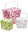 Polka Dot Take-Out Cartons