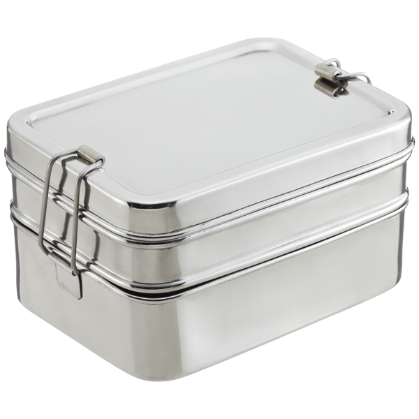 ECOlunchbox Stainless Steel Rectangular 3-in-1 Bento Box