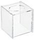Hinged-Lid Boutique Tissue Box Clear