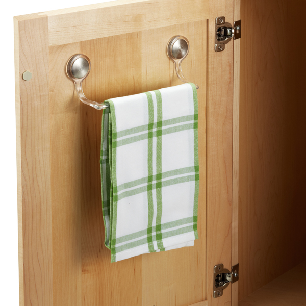 interdesign forma adhesive towel bar the container store rh containerstore com Kitchen Cabinet Towel Bar Kitchen Cabinet Towel Bar