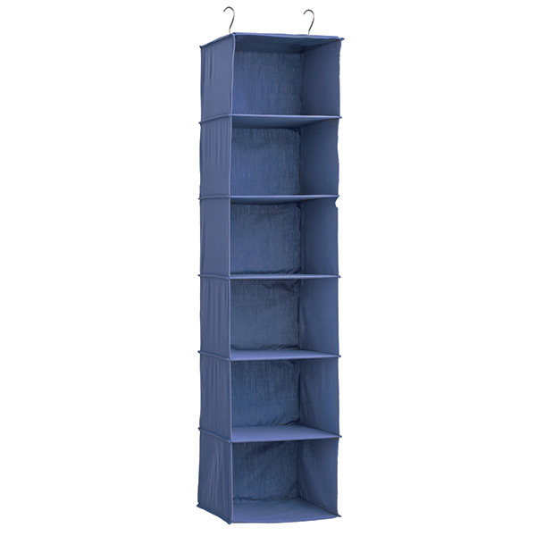 Indigo 6 Compartment Hanging Sweater Organizer