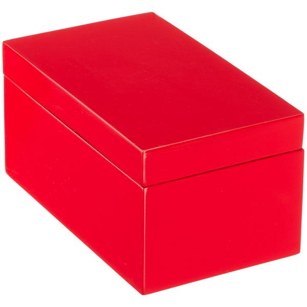 Medium Lacquered Rectangular Box Red