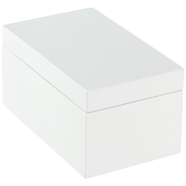 Medium Lacquered Rectangular Box White