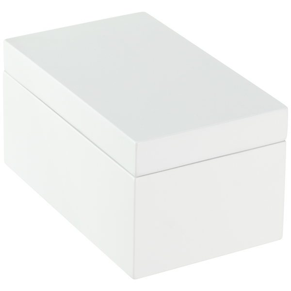 Medium Lacquered Rectangular Box White